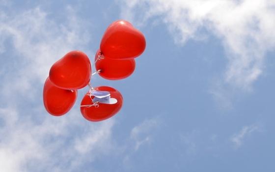 srdce balón